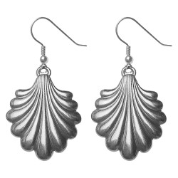SILVER PLATED SHELL EARRINGS