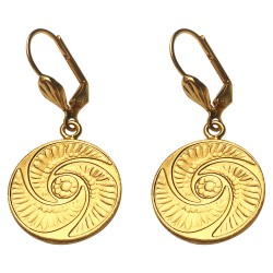 GOLD PLATED BOUTON EARRINGS