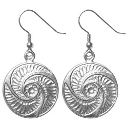 SILVER PLATED BOUTONS EARRINGS