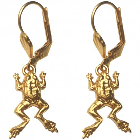 GOLD PLATED FROG EARRINGS