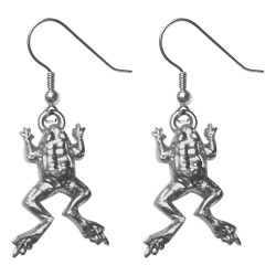 SILVER PLATED FROG EARRINGS