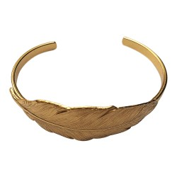 GOLD PLATED BIG FEATHER BRACELET