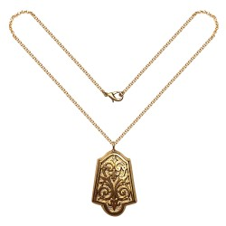 GOLD PLATED MEDALLION PENDANT