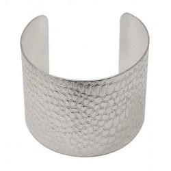 Bracelet Croco Argenté