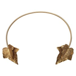 GOLD PLATED 4 LIERRE LEAVES NECKLACE
