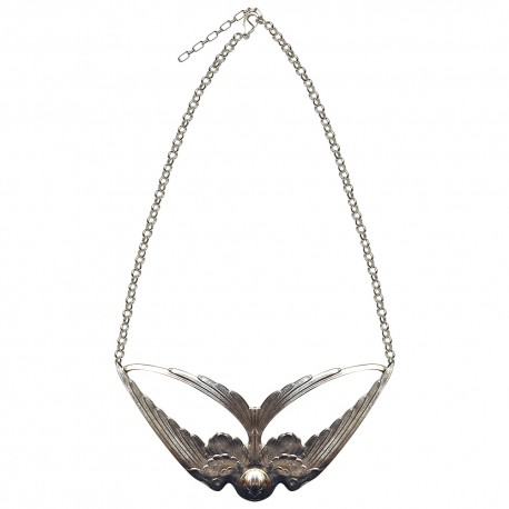 SILVER PLATED SHALLOW NECKLACE