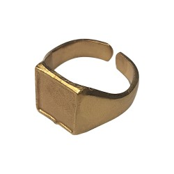 GOLD PLATED SIGNET RING
