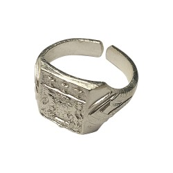 SILVER PLATED SIGNET RING