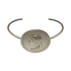 SILVER PLATED CESAR HEAD BRACELET