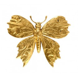 Big Golden Butterfly Brooch