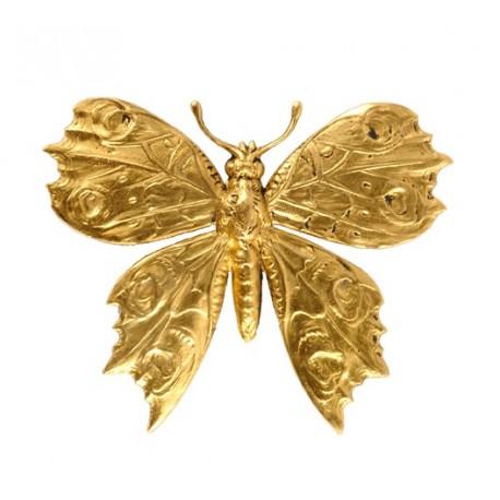 Broche Grande Papillon Dorée