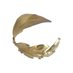 GOLD PLATED LLAUREL LEAF AND BRANCH BRACELET
