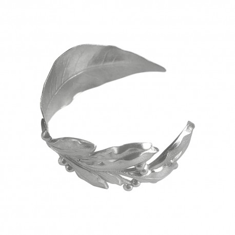 SILVER PLATED LAUREL LEAF AND BRANCH BRACELET
