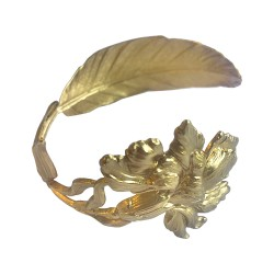 GOLD PLATED FEATHER AND IRIS BRACELET