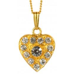 Pendentif Coeur Diamant Doré