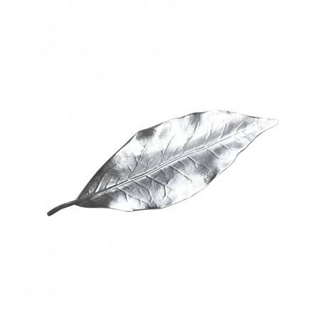 SILVER PLATED LAUREL LEAF BROOCH