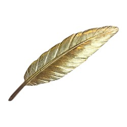 GOLD PLATED FEATHER BROOCH