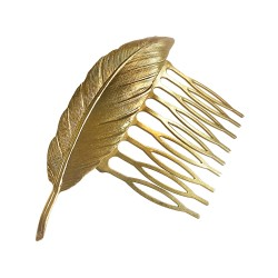 GOLD PLATED FEATHER COMB