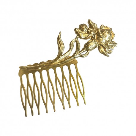 GOLD PLATED IRIS COMB