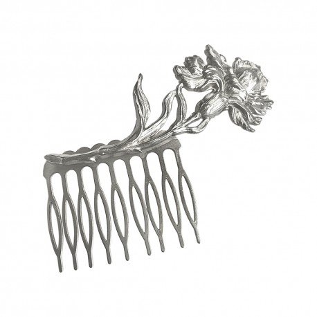 SILVER PLATED IRIS COMB