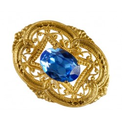 Golden Oval Filigree Ring
