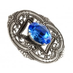 Old Silver Oval Filigree Ring