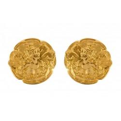 Boucles d'Oreilles Femmes Papillon 1900 Dorées