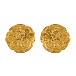 Gold plated Woman Butterfly of The Nineteen Century Earrings