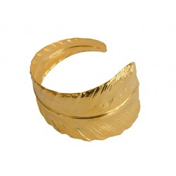 Bracelet  Plume Doré