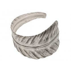 """Old Silver"" Feather Bracelet"