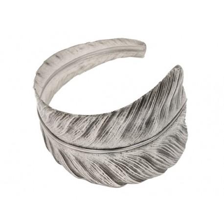 Bracelet  Plume Vieil Argent