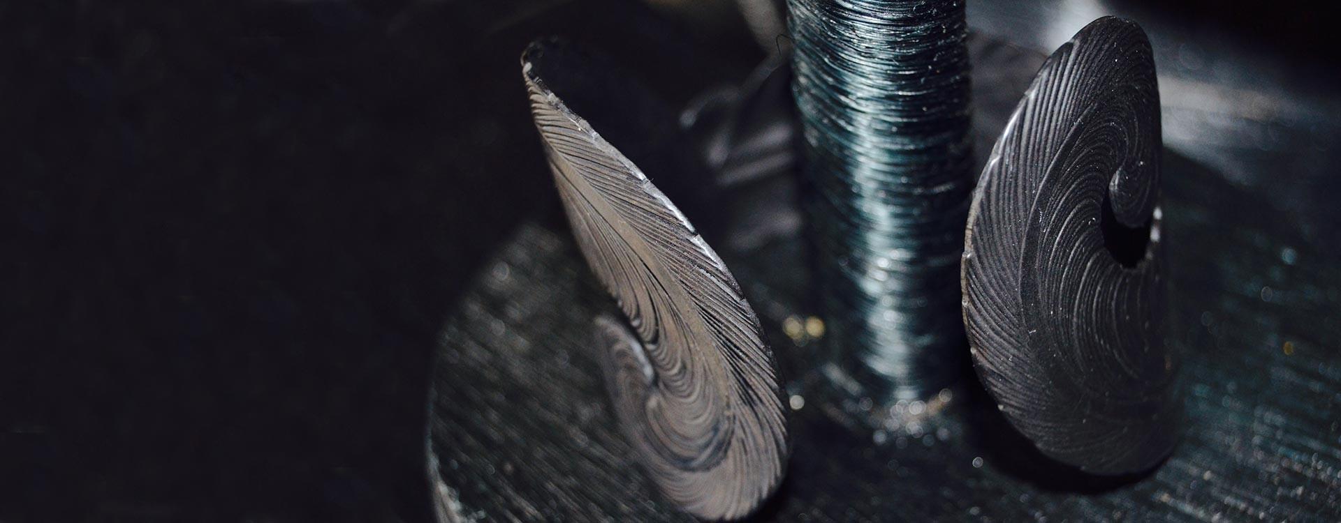 Bracelet trois plumes argenté