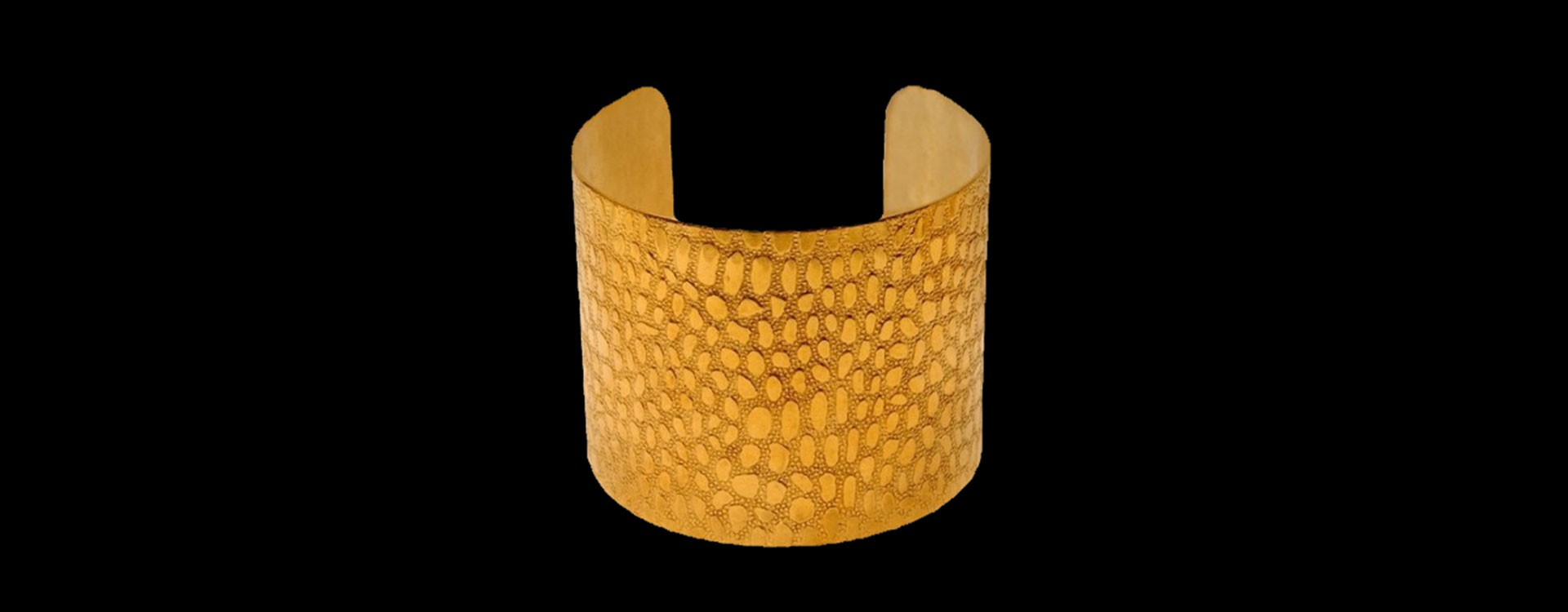 Bracelet croco doré