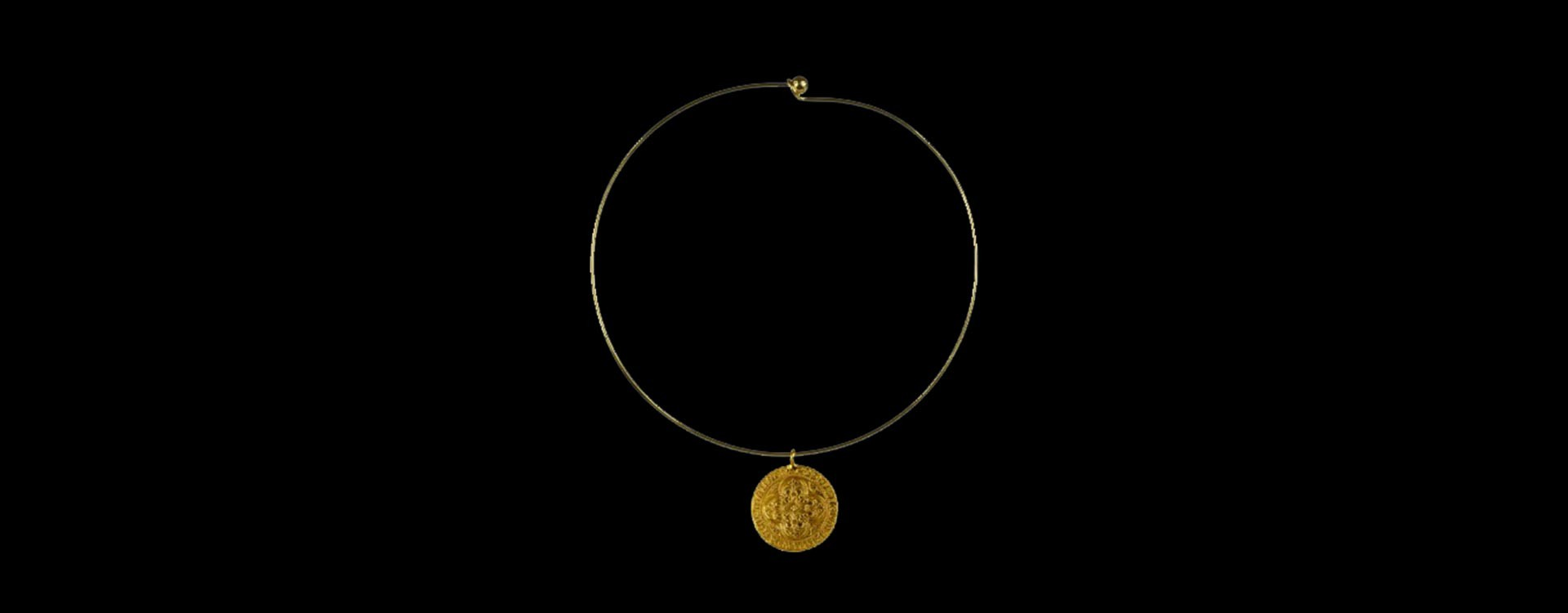 Gold plated talisman necklace