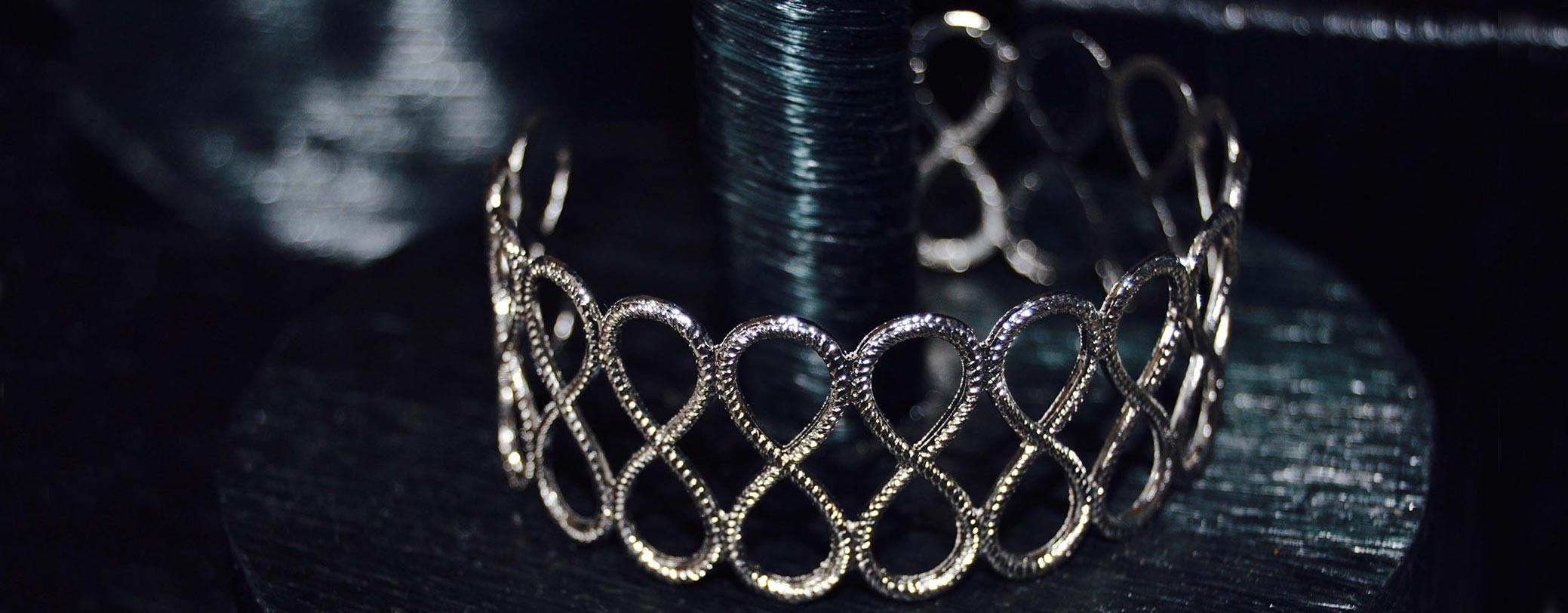 Bracelet éternité argenté