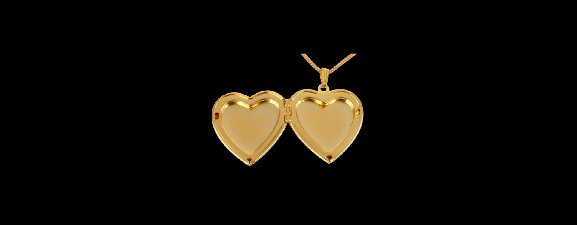 Golden Opened Heart Pendant